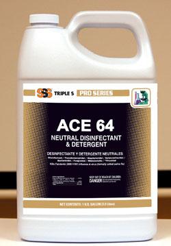 Ace 64 Neutral Disinfectant & Detergent, 4/1Gallon