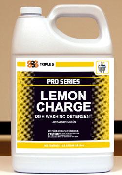 Lemon Charge Dish Washing Detergent, Lemon, 4x1Gal/Cs