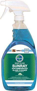 Sunray RTU Non-Ammoniated Glass Cleaner, 12Qts Per Case