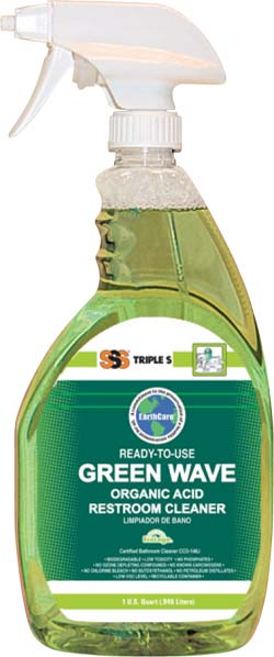 Green Wave RTU Organic Acid Restroom Cleaner, 12Qts/Case