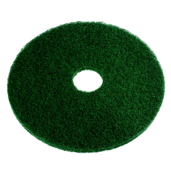 "SSS 17"" Green Scrubbing Floor Pad, 5 Pads Per Case"