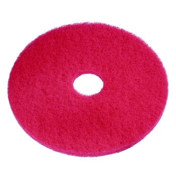 "Americo 15"" Red Spray Buff Floor Pad, 5 Per Case"