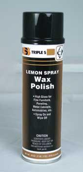 Lemon Spray Wax Polish 12 x 18oz Bottle Per Case