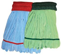 NEXGEN Microfiber Tube Mops Blue/Large, 12 Mops Per Case