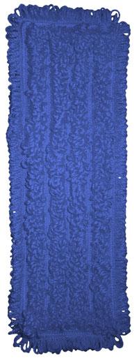 "NexGen 18"" Blue Microfiber Wet Mop Pad, Pocket Style"