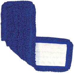 "Nexgen 18.5"" Blue Microfiber looped Mop Pad Velcro System,"