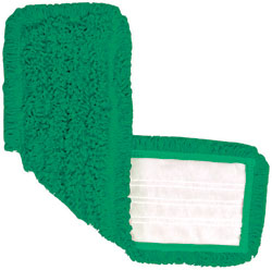 "Nexgen 18.5"" Green Micro Fiber Mop Pad, Velcro System, 12/Cs Price Per Each"