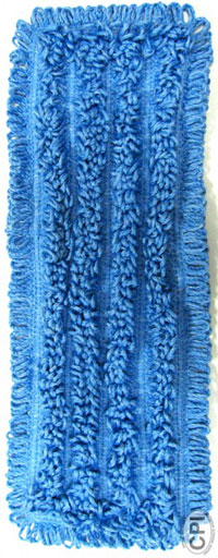 "Nexgen 18"" Blue Microfiber Mop Pad, Tab Style, 12/Case"