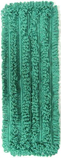 "NEXGEN TB Style 18"" Green Microfiber Mop Pad, 12/Case"