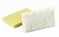 #63 Light Duty Scrub Sponge White/Yellow, 20/Case