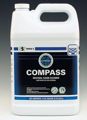 Compass Neutral Floor Cleaner, 4 - 1 Gallon/Case