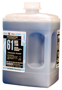 Navigator #61, ACE 256 Neutral Disinfectant & Detergent,