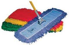 """Endless Twist Colored 24"""" Blue Dust Mop 12/Case"""