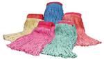 SSS #24 Value Plus Blend Wet Mop Narrow Blue, 12 Per Case