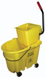 SSS WaveBrake 35Qt Side Press Combo Mop Bucket Yellow