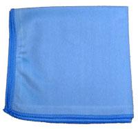 "NexGen 16"" x 16"" Blue Microfiber Cloth for Glass"