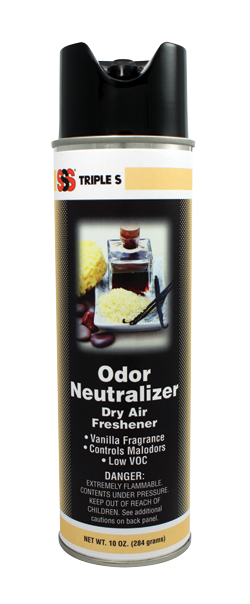 SSS Odor Neutralizer, Vanilla Fragrance, 12/10oz Cans/Case