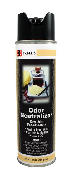 SSS Odor Neutralizer, Vanilla Fragrance, 12/10oz Cans/Case