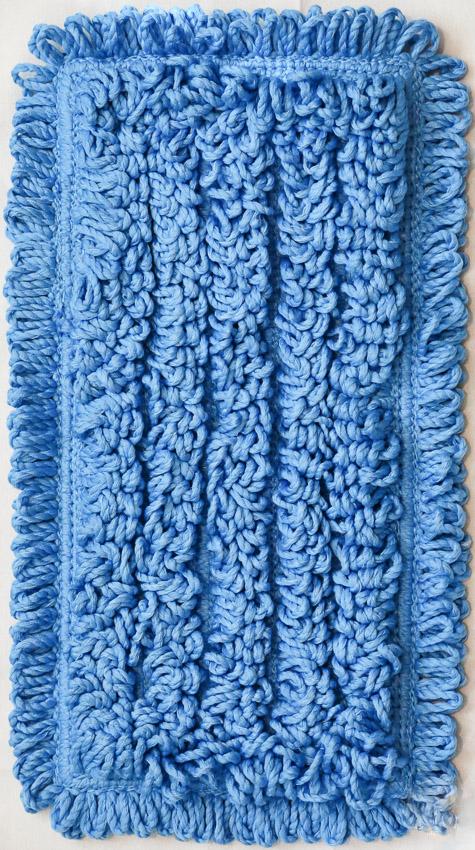 "SSS NEXGEN HL 9"" BLUE MICROFIBER MOP PAD 24/CS"